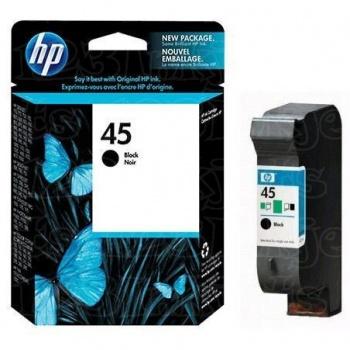 Cartucho de tinta HP 45 - Preto