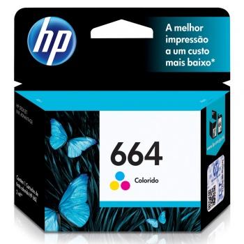Cartucho de Tinta HP 664 - Colorido