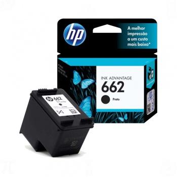 Cartucho de tinta HP 662 - Preto