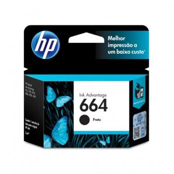 Cartucho de Tinta HP 664 - Preto