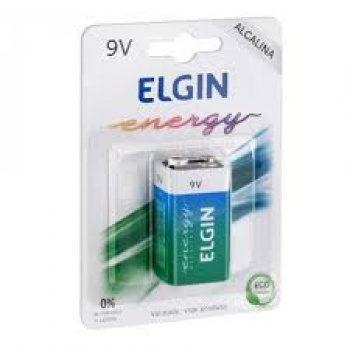 Pilha 9V Elgin Alcalina