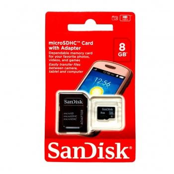 Cartão de Memória Micro SD 8GB - SANDISK
