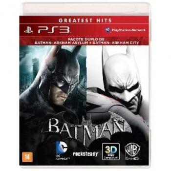 Jogo Batman Pacote Duplo: Ayslum + City - Ps3
