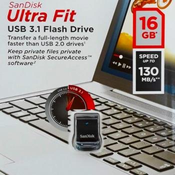 PEN DRIVE Ultra Fit USB 3.1 16GB - SANDISK