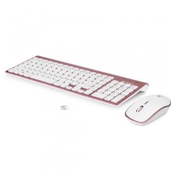 Teclado e Mouse K-W510 Rosa- C3TECH