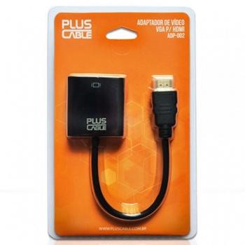 Adaptador VGA x HDMI - PLUSCABLE