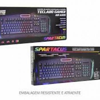 Teclado Gamer  Gaming Master Kb- A328 Spartacus Com Led