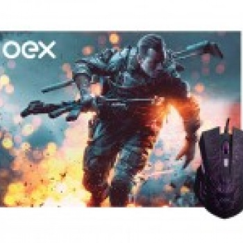 Mouse Gamer Combo Stage MC 101 Preto - OEX