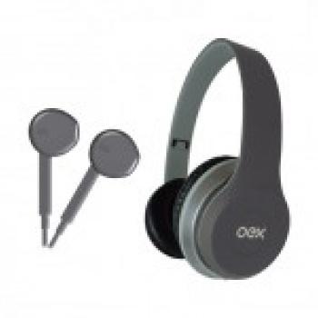 Headset + Fone de Ouvido TWIN HF-100 - Preto - OEX