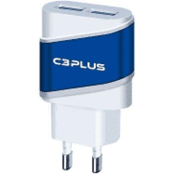 Carregador 2 saidas USB p/ tomada UC-20 - C3PLUS