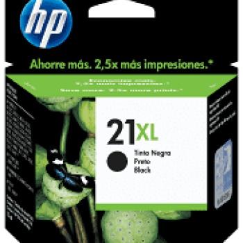 Cartucho de tinta HP 21XL - Preto