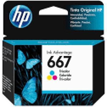 Cartucho de tinta HP 667 - Colorido