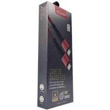 Cabo de dados USB Tipo C- CB-P150 - Vermelho - C3Tech