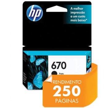 Cartucho de tinta HP 670 - Preto