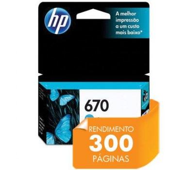 Cartucho de tinta HP 670 - Ciano