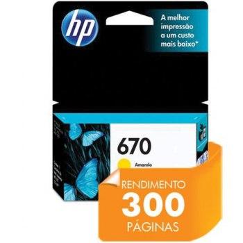 Cartucho de tinta HP 670 - Amarelo